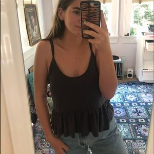 UO charcoal tank top